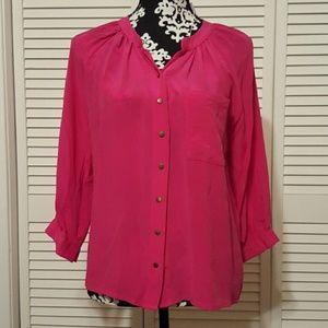 100% SILK Greylin pink blouse/Top